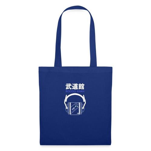 Boodo Khan walkman with headhones & Title - Tote Bag
