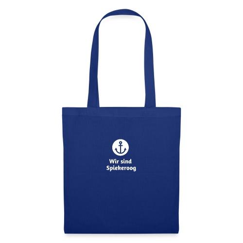 Wir sind Spiekeroog Logo weiss - Stoffbeutel