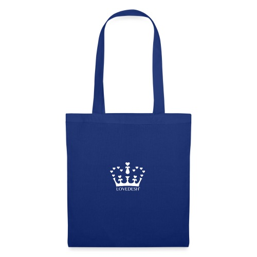 White Lovedesh Crown, Ethical Luxury - With Heart - Tote Bag