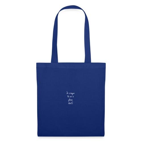 Je croque la vie à plein dent - Tote Bag