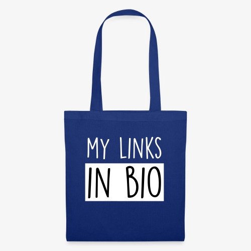 my links in bio white - Tote Bag