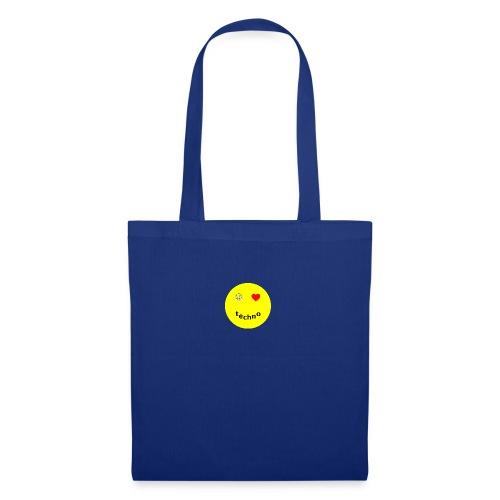 camiseta paz amor techno - Bolsa de tela