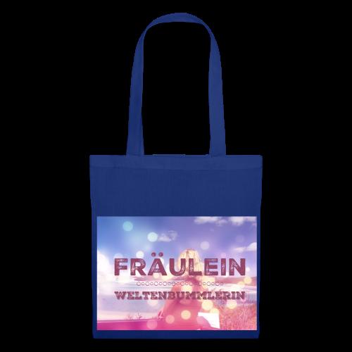 Fräulein Weltenbummlerin - Stoffbeutel