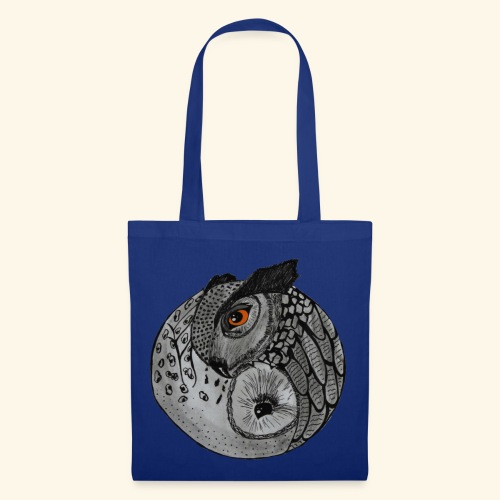 Chouette ying-yang - Tote Bag
