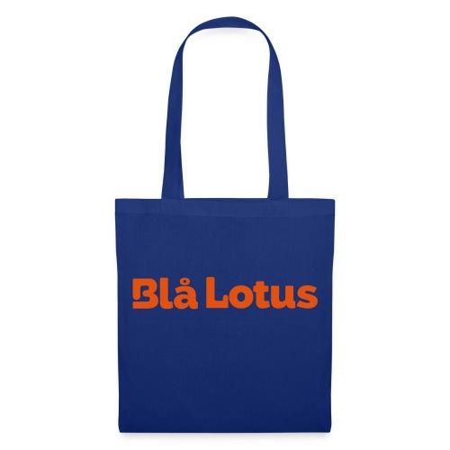 BHlå Lotus lång logga - Tygväska