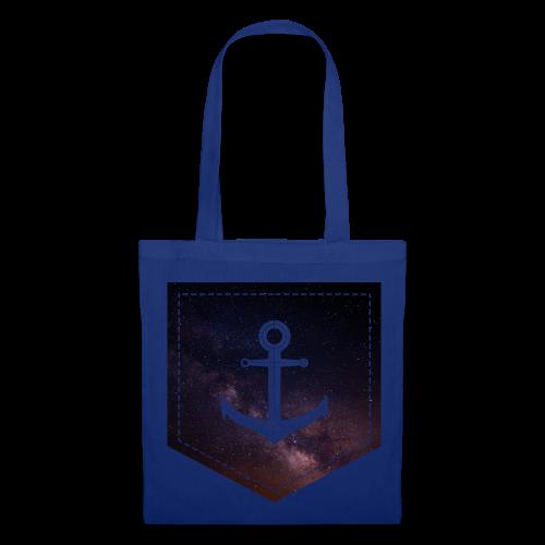 Brusttasche Galaxie Anker - Stoffbeutel