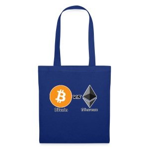 Bitcoin vs ethereum withe ok - Tote Bag