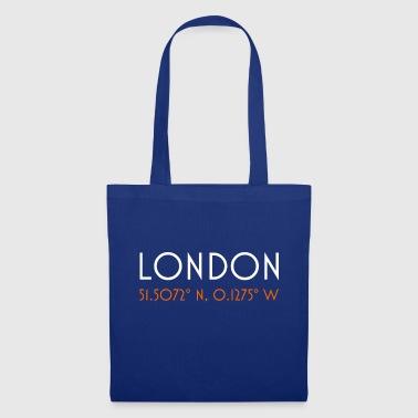 London England minimalistische Koordinaten - Stoffbeutel