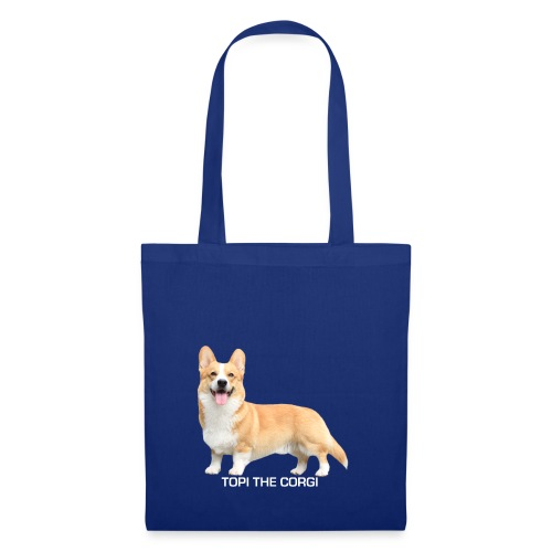 Topi the Corgi - White text - Tote Bag