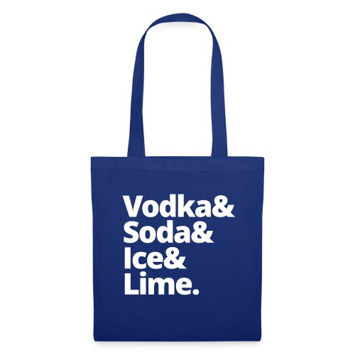 vodka soda ice lime - Tas van stof