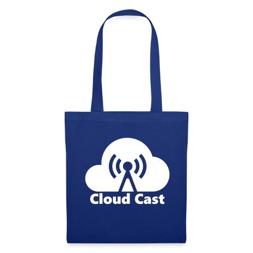 Cloud Cast White mit Schriftzug - Stoffbeutel