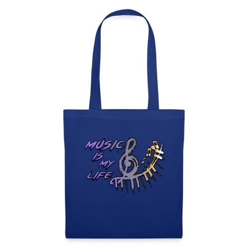 Music is my life - Dames Shirt - Tas van stof