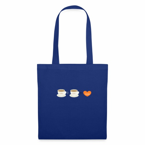 Coffe plus Coffee equals Love - Tote Bag