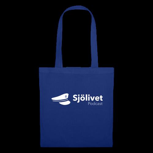Sjölivet podcast - Vit logotyp - Tygväska