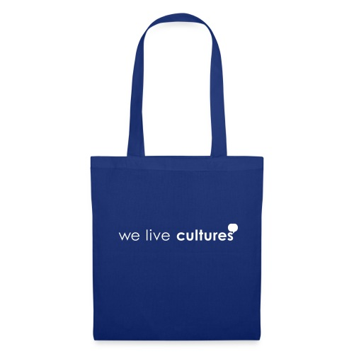 we live cultures - weiss - Stoffbeutel