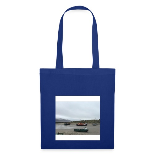 boats on barmouth beach - Tote Bag