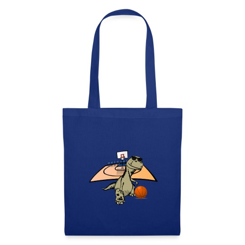 Dino Rex Playing Basketball T-Shirt - Tote Bag