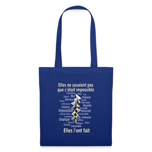 Impossible et fait Femmes brèche Fond Sombre - Tote Bag
