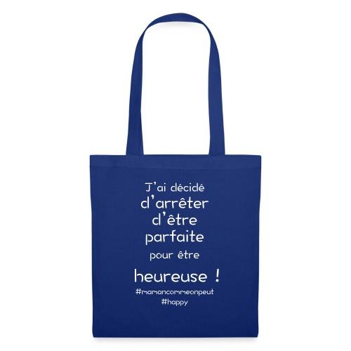 t-shirt_happy_white - Tote Bag