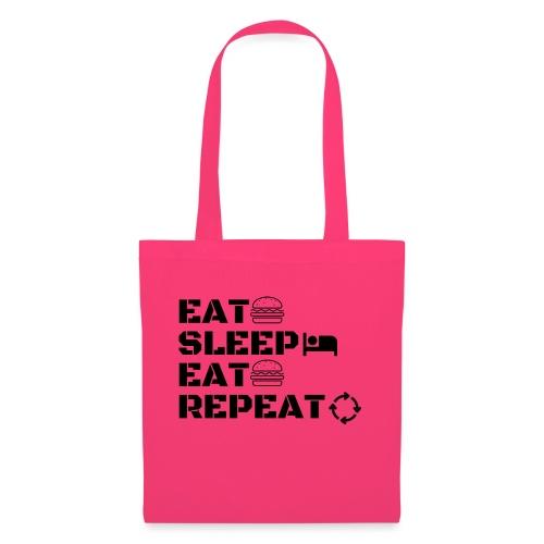 eat sleep eat repeat - Sac en tissu
