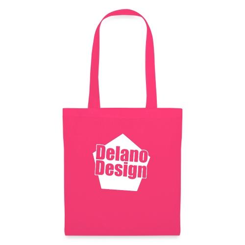 DelanoDesign - Logo Wit - Tas van stof