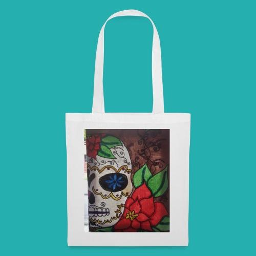 flower-skull - Tote Bag