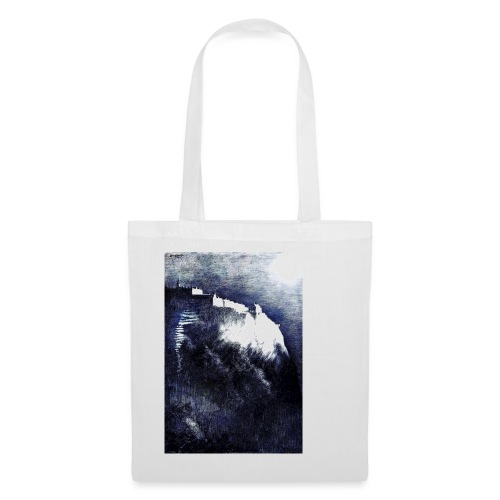 castle in the moonlight enhanced - Tote Bag