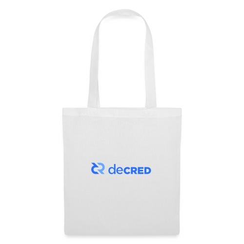 Decred logo horizontal blue - Tas van stof