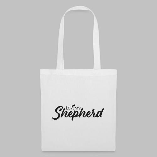 LOVE MY SHEPHERD - Black Edition - Dog Lover - Stoffbeutel