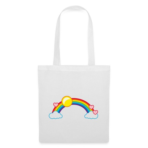 Regenbogen Sonne Herz Rainbow Cloud Heart - Tote Bag