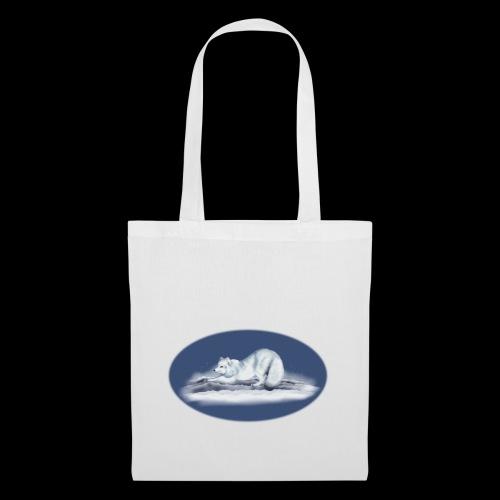 Arctic Fox on snow - Tote Bag