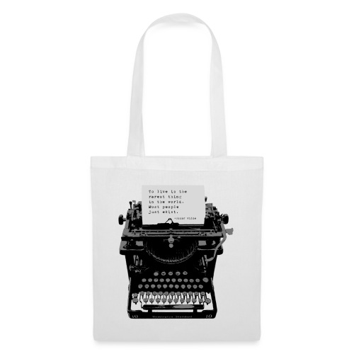 Oscar Wilde Quote on Old Remington 10 Typewriter - Tote Bag