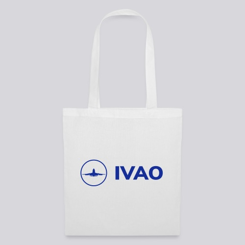 IVAO (Logo bleu complet) - Sac en tissu