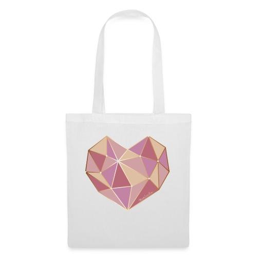 Diamant Herz 3D - Stoffbeutel