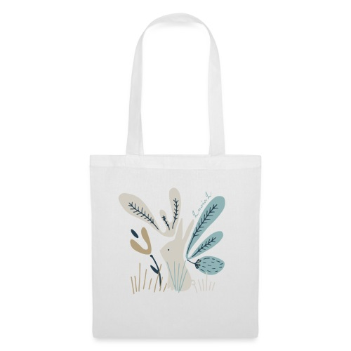 Rabbit in winter wonderland - Borsa di stoffa