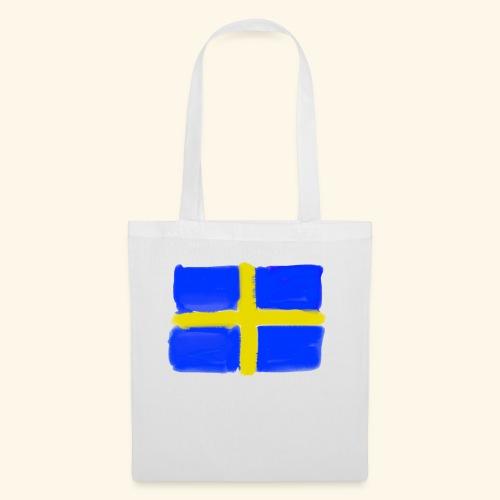 Swedish flag in Watercolours - Tygväska