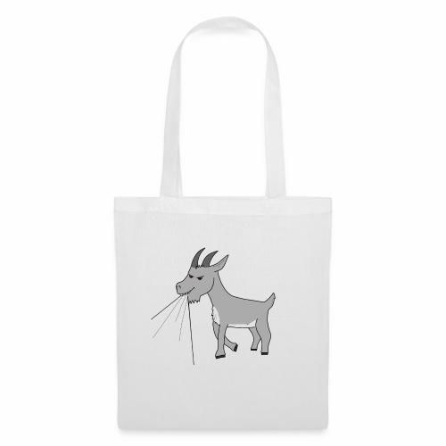 Goat eating t-shirt - Tote Bag