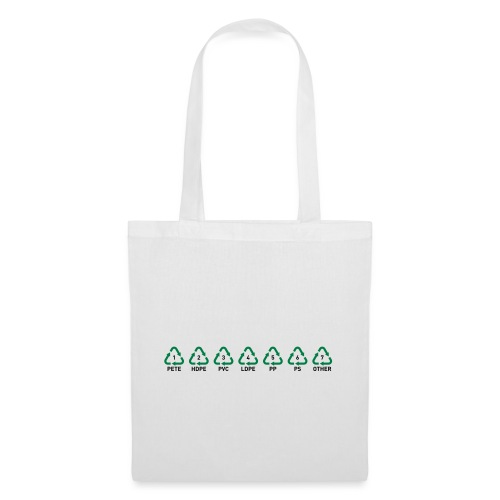 Recyclable Resin Identification Codes (RIC). - Tote Bag