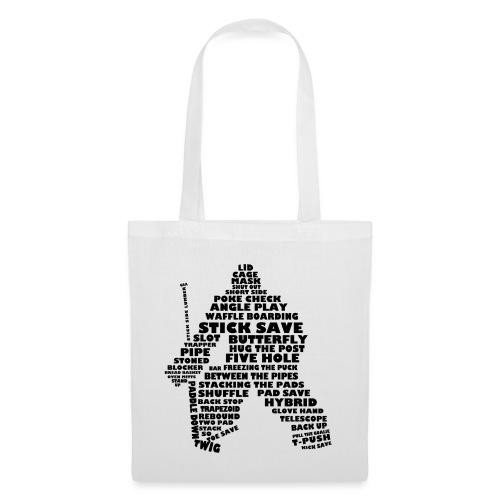 Language of Hockey (Goalie version, black print) - Tote Bag