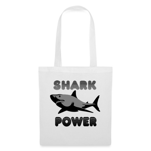 Shark Power Schwarz - Stoffbeutel