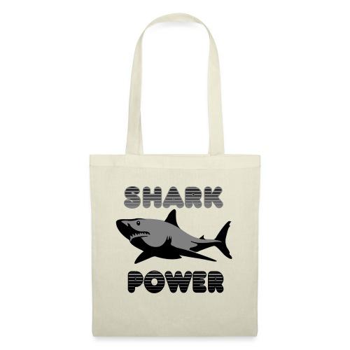 Shark Power Schwarz - Stoffbeutel