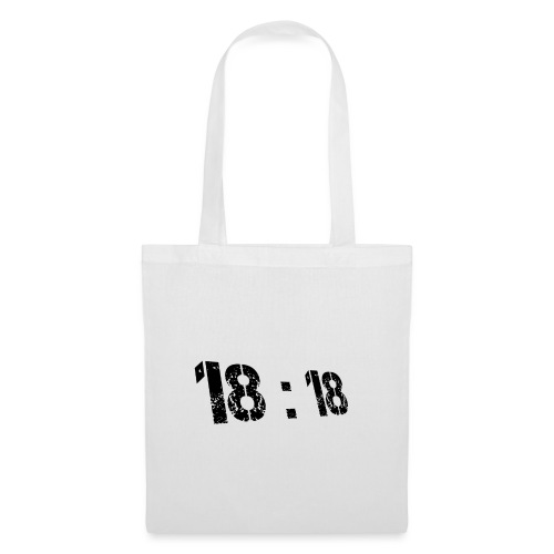 18:18 Black - Tote Bag