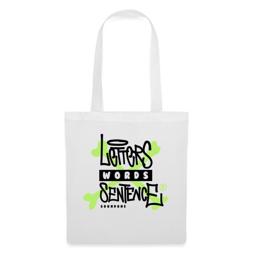 letters words sentence - Torba materiałowa