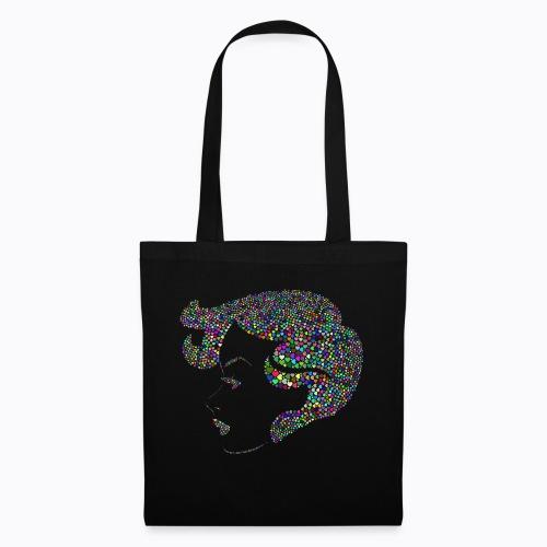 woman colorful - Tote Bag