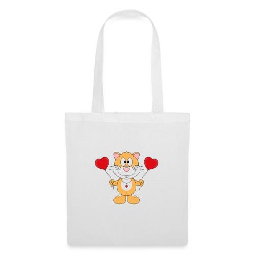 Lustiger Hamster - Herzen - Luftballons - Liebe - Stoffbeutel