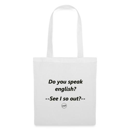 Do you speak english schw - Stoffbeutel