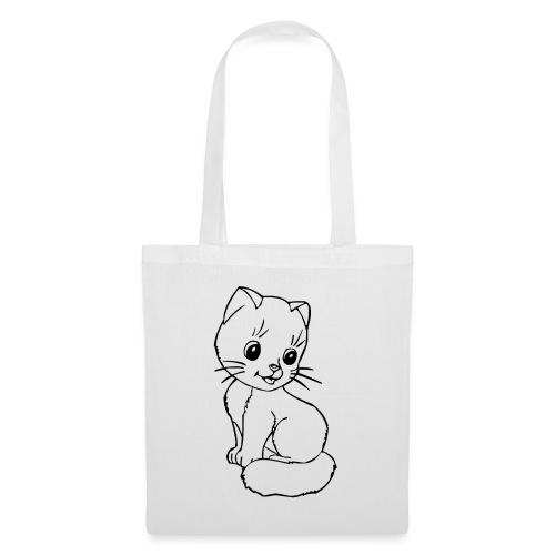 Katzen Symbol Katze süß Kützchen Haustier - Stoffbeutel