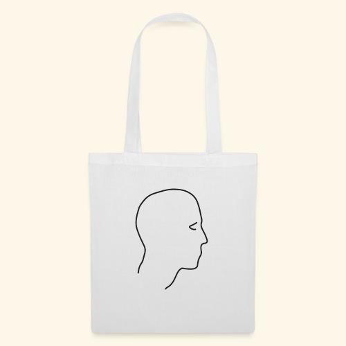 Lineart Kopf Gesicht im Profil Umrisslinie Kunst - Stoffbeutel