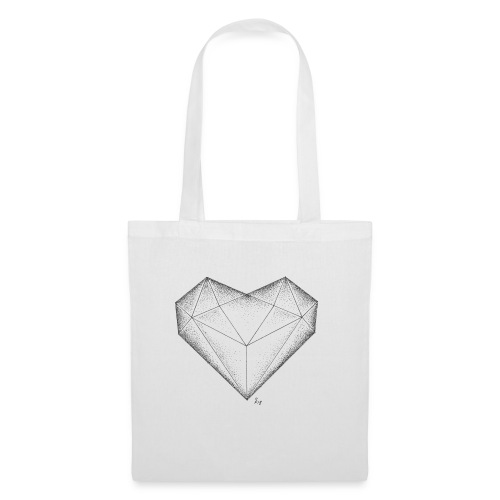 Herz Diamant - Stoffbeutel