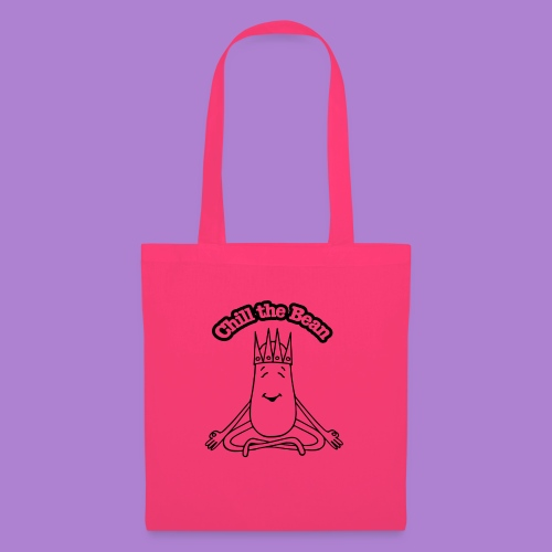Chill the Bean black outline - Tote Bag